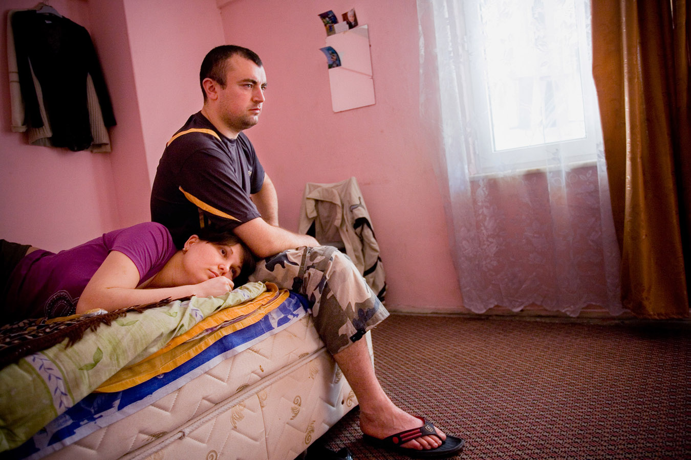 Moldovian couple Vitalik and Tania work as salesperson in Laleli.They left their 1 year old son with their parents to come to Turkey to save money working in Laleli.Most of the workers has no working permits.They have only Sunday to rest after a tiring week and they prefer to stay at home.Laleli became a textile district with the beginning of 1980s.The first customers were mostly from Arab and Balkan countries.Now the major buyers are from former Soviet Union  and east Europe countries.Official language is Russian and the currency is US Dollars.Making suitcase trade for years now Laleli has approx. 30000 firms in the middle of Istanbul.Hotels,coiffeurs,restaurants and cargo companies follow up textile firms to give better service to customers.
