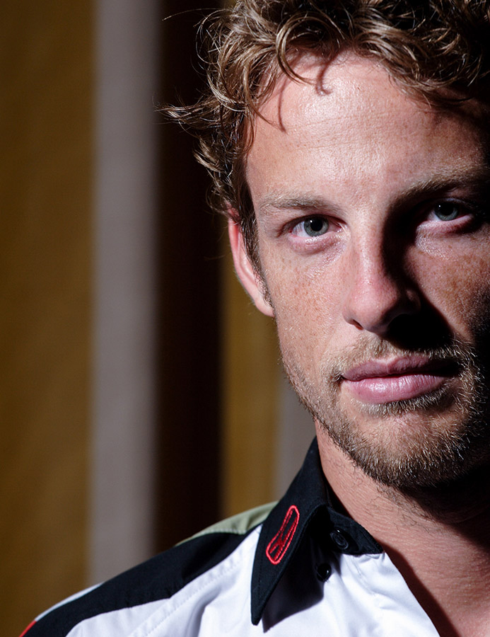 portrait of Jenson Button,Formula Pilot