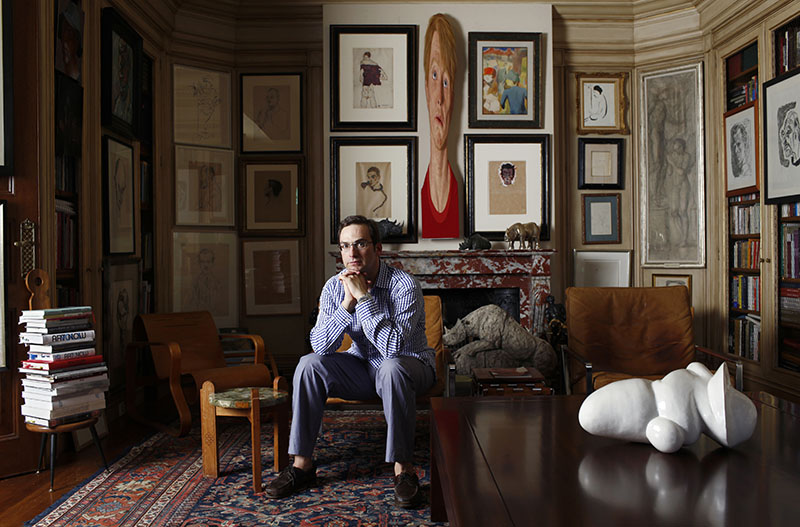 Portrait of Omer Koc in his house,Kandilli,Istanbul.
