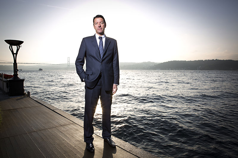 Kasper Rorsted, chief executive officer of Henkel AG, poses for a photograph in Istanbul Four Seasons at the Bosphorus Hotel seaside, Turkey, on Friday,Sept. 28, 2012.