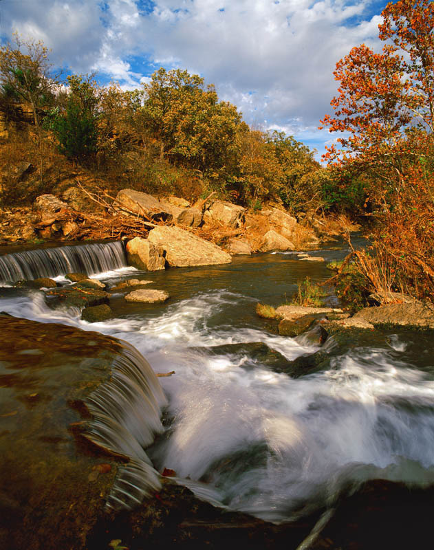photograph entitled Waterfall at Pillsbury Crossing, Riley County, Kansas