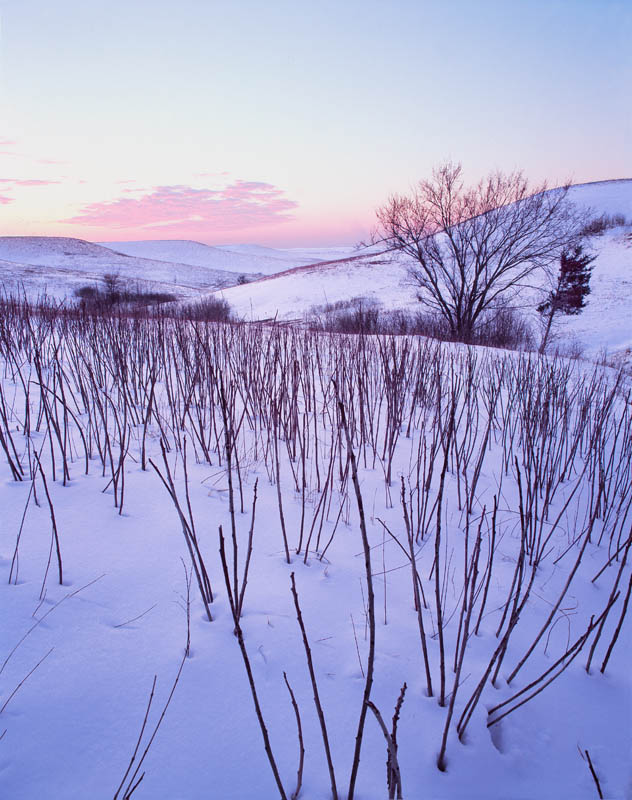 Winter sundown in the Kansas Flint Hills
