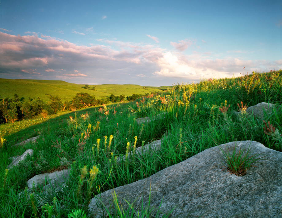 Photograph entitled Flint Hills in late spring