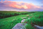 Photograph entitled Summer Evening in the Kansas Flint Hills