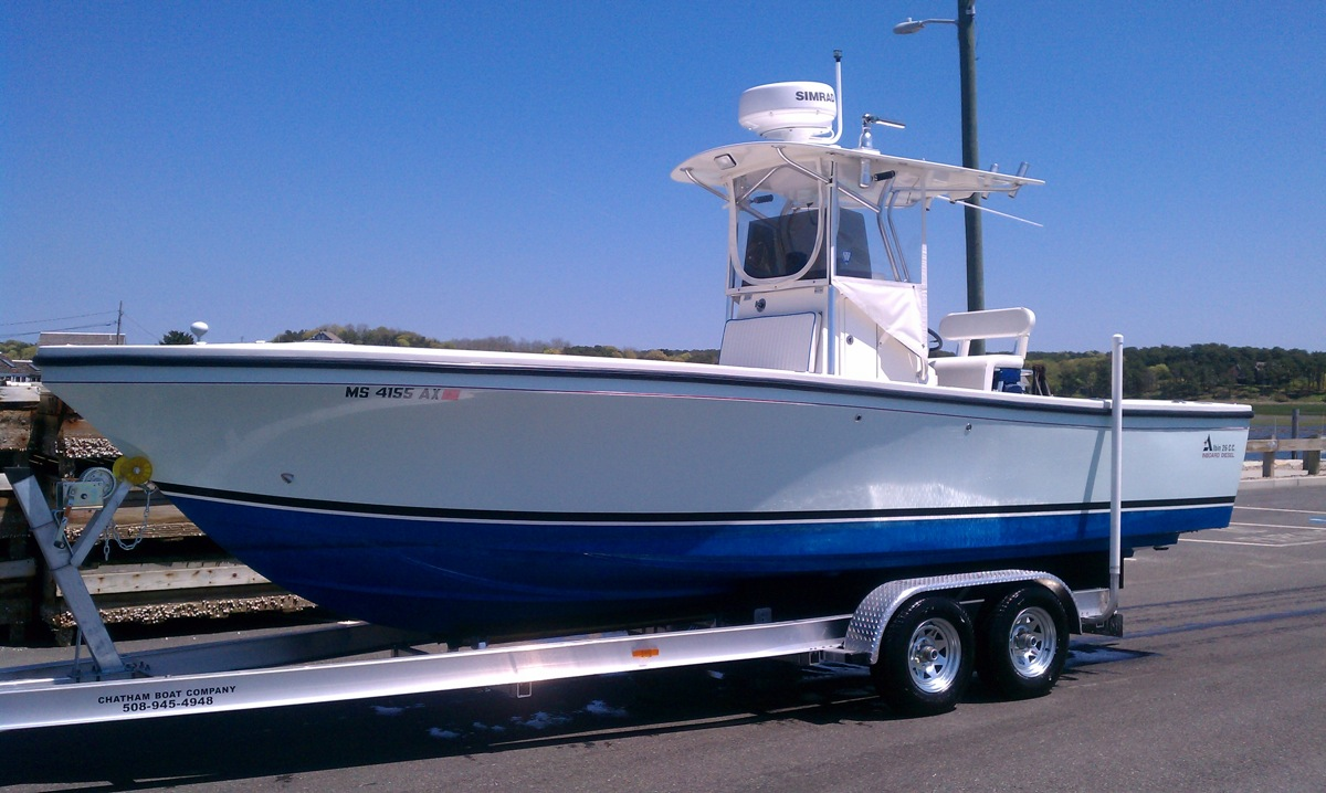 The boat is an Albin 26' inboard diesel center console that I bought at the ...