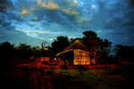 Nightfall in the area known as Bushmenland.
