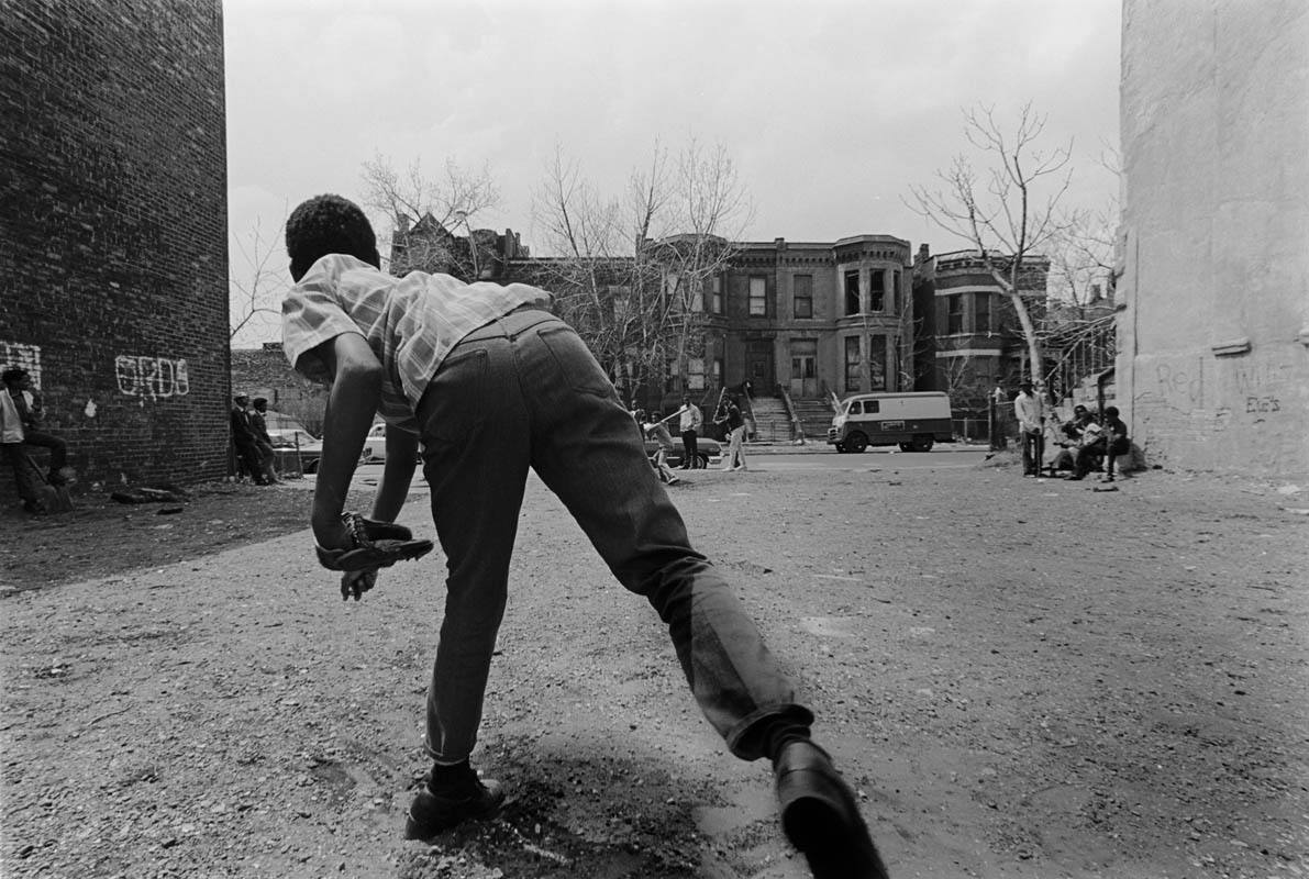 Vacant lot baseball has been a very common summer activitiy on Chicago's Southside for decades.