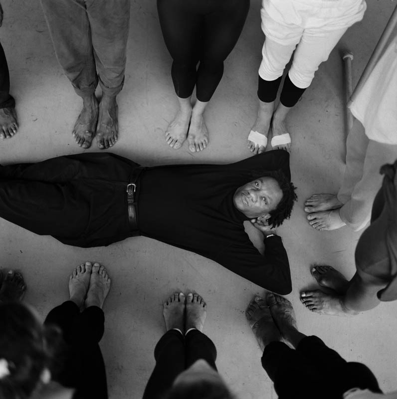 Choreography Donald Byrd poses with some members of the Alvin Ailey Dance Company. Copyright The New York Times