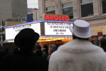December, 28th, 2006 - People stood outside the Apollo Theater as a memorial service took place inside a few days after James Brown died on Christmas day 2006.
