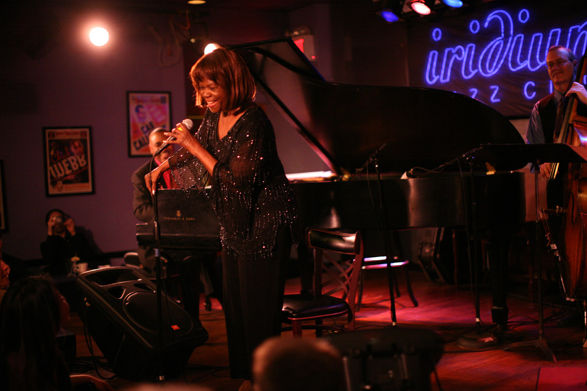 02-17-08 New York NY Jazz Singer Enestine Anderson at the Iridium. - Photo By Ozier Muhammad