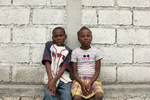 01-25-10  Port Au Prince, Haiti - Deskl: FOR - Slug: - ORPHANS  -  Veli, 14, and his sister Kateline Jeanphillipe, 11. - Ozier Muhammad/The New York Times