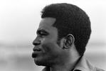 Kansas City, MO - Circa 1971 - James Brown arriving here for a concert.