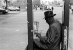 April, 1994 - A man found a seat in a traffic signal stanchion at 125th street and Frederick Douglass Boulevard.