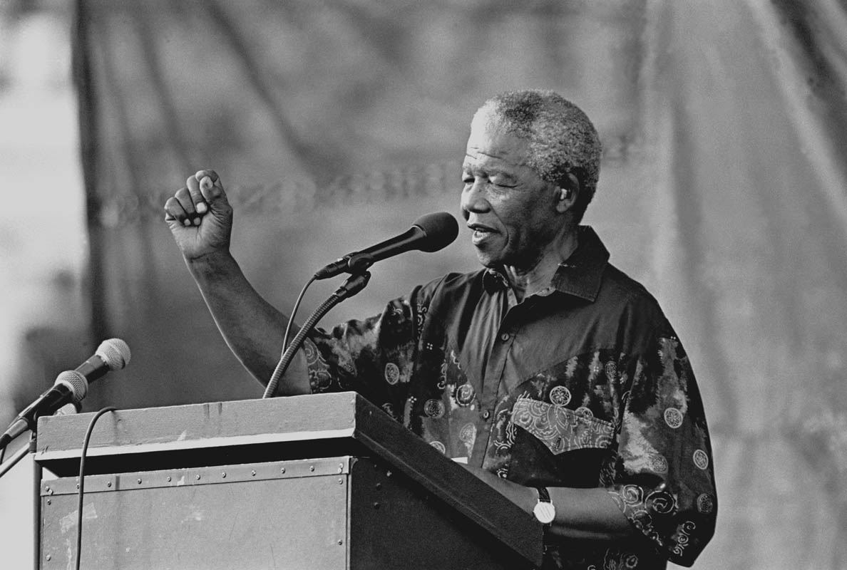 Mr. Mandela speaking on the campaign trail. Photo by Ozier Muhammad/The New York Times