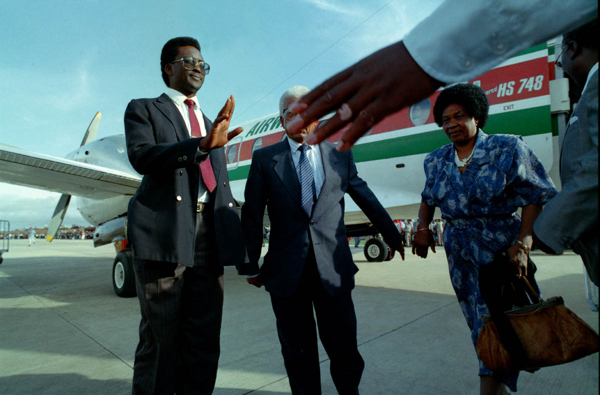 Walter and Albertina Sisulu visits Transkei just weeks after his release from Robben Island.
