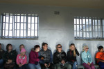 07-05-2013 - Visitors on the tour listen to a guide describe what it was like to be a political prisoner here.