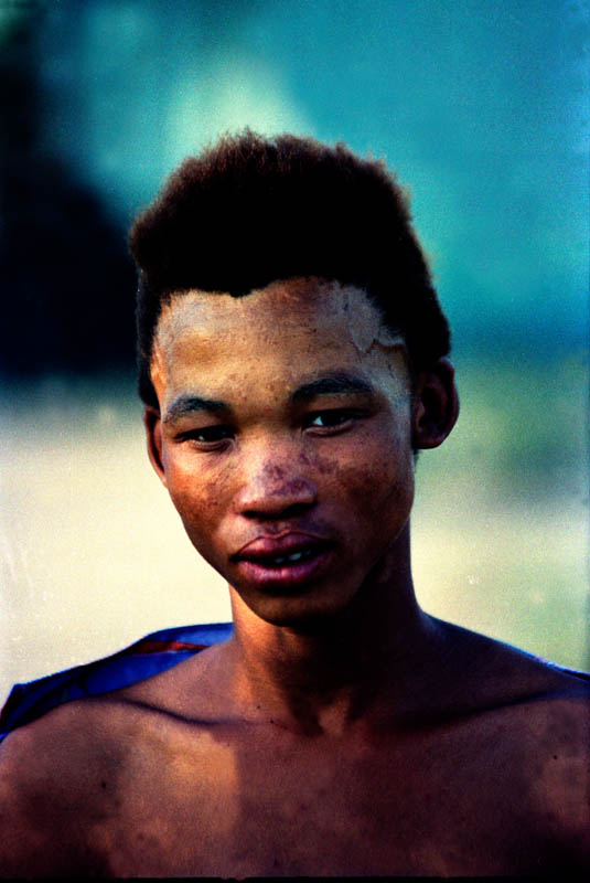 1989 -Tsumnkwe Boy of Bushmanland, near a polling place during a week of voting in the first non-racial election in his country's history.