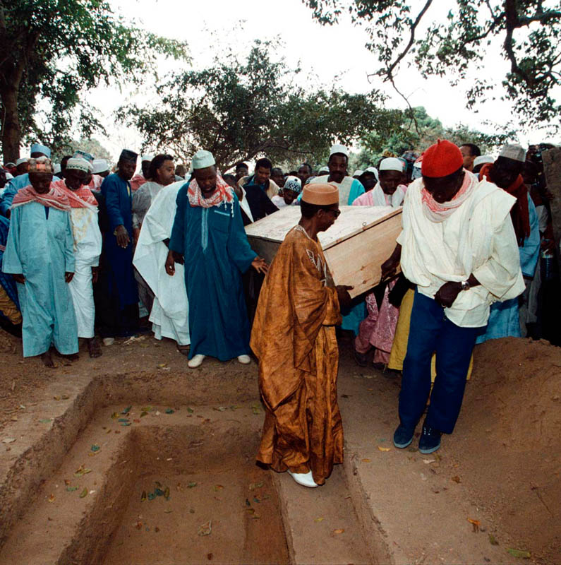 02-16-1999 - Amadou Diallo, who was killed on February 4th 1999 in Bronx, NY when 4 undercover police officers opened fire on Mr.Diallo when he reached for his wallet. He was buried here in this town, near Labe, Conakry, February 16th. He was 23 years old.