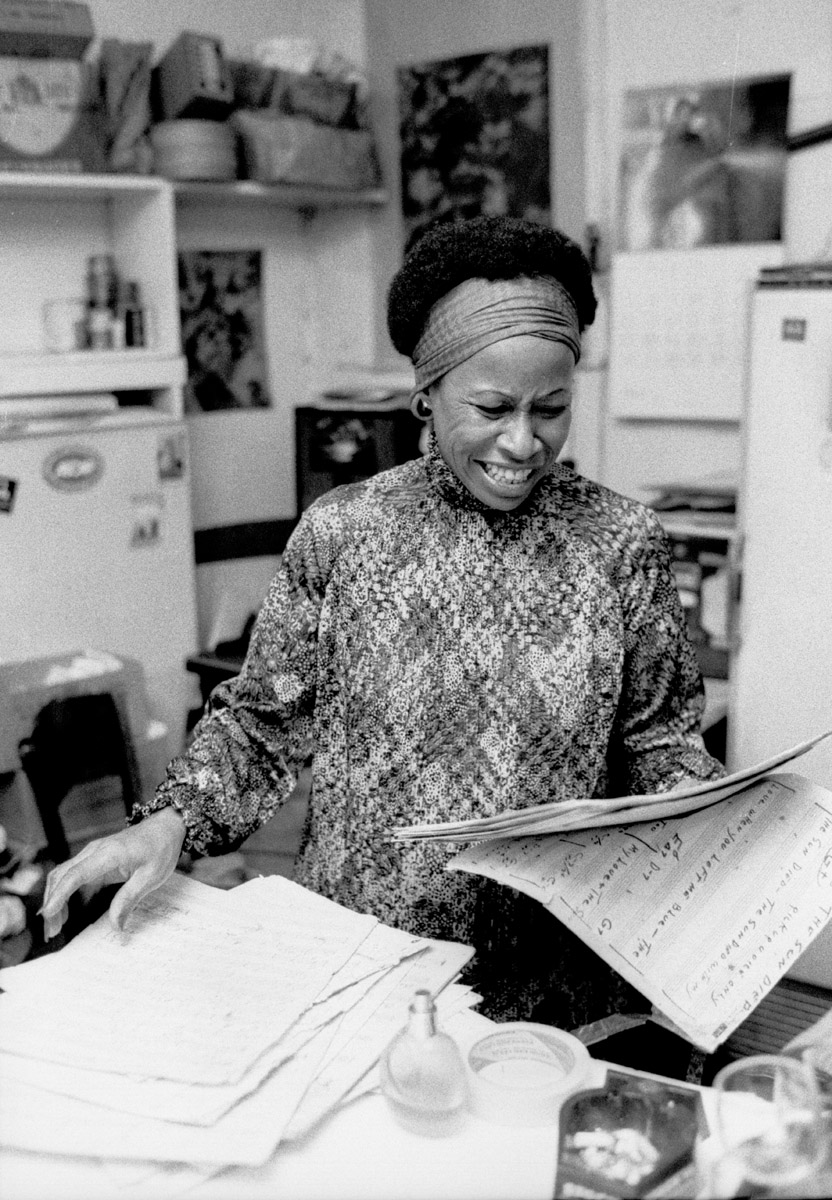 New York City - Betty Carter, in the dressing room at the Village Vanguard. Circa 1977.