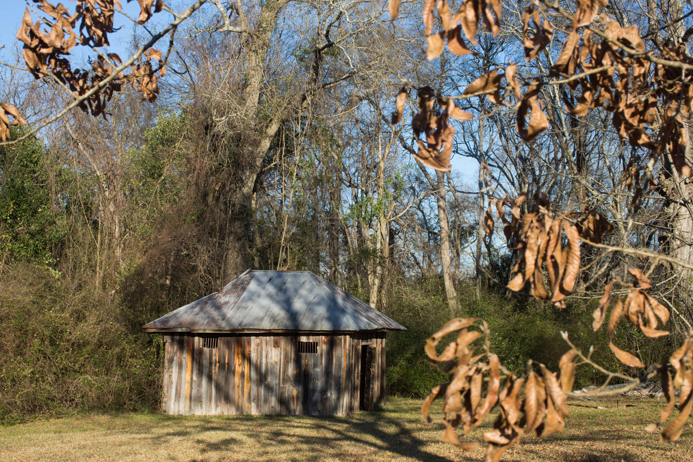 Thomaston, Ala - 02-12-16 - This is the site where Rufus Lesseur, was first detained and later lynched on August 16, 1904. He was accused of raping a white woman on Aug. 14 of that year. This is a soil collecting for the lynch site project, for The Equal Justice Initiative. - Credit Photo by Ozier Muhammad
