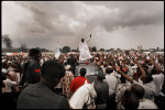 Nigerian rivals campaing for the presidency Campaign Rally