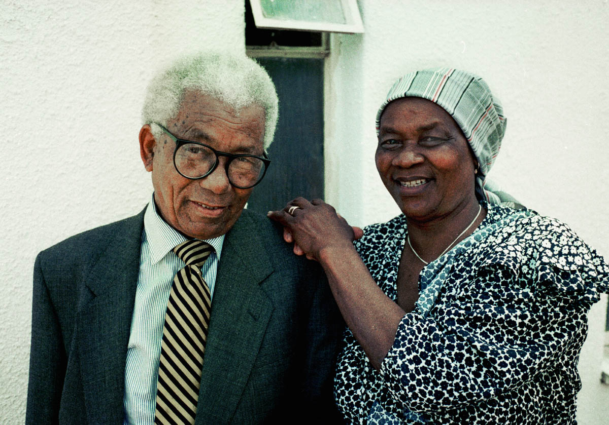 Albertina Sisulu with her husband Walter Sisulu, dies at the age of 92. Her husband died in 2003.