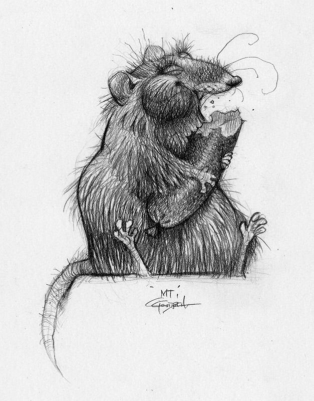 Carter Goodrich  Portfolio design by Neon Sky  Ratatouille Character Design