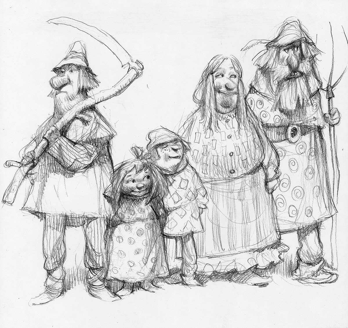 The Art Of Character Design Volume I : Shrek peasants character design carter goodrich