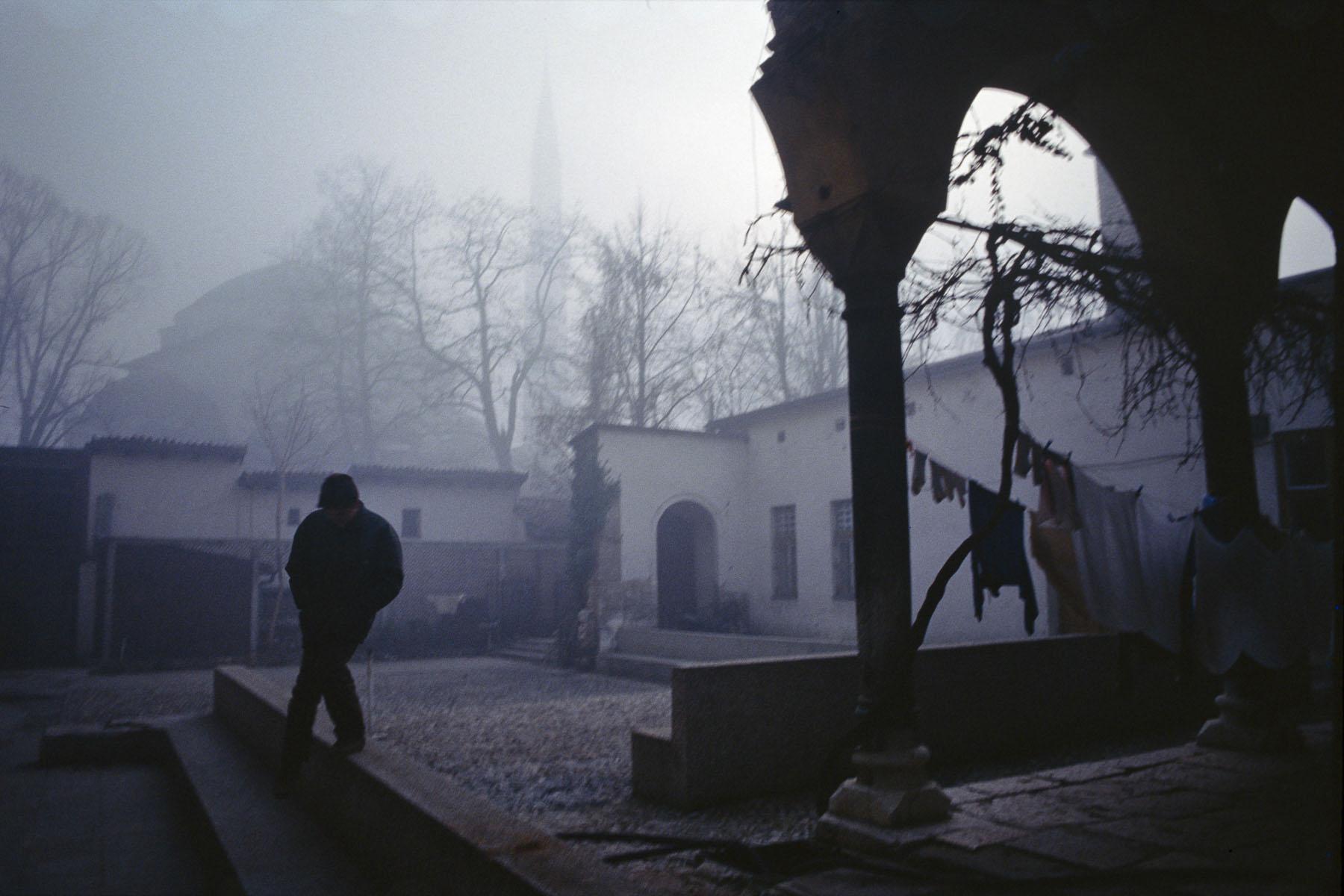 Sarajevo mosque in January 1994