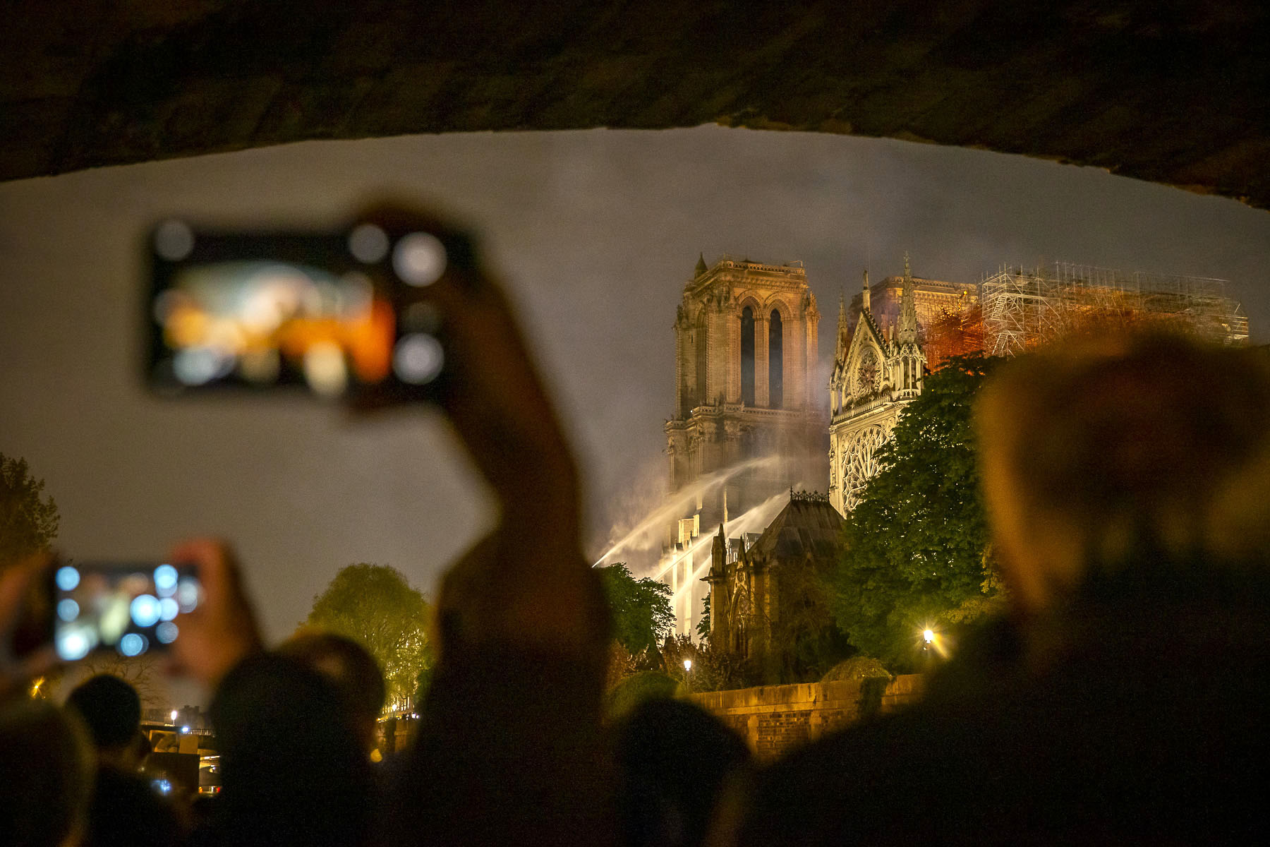 The fire of Notre-Dame cathedral, April 2019