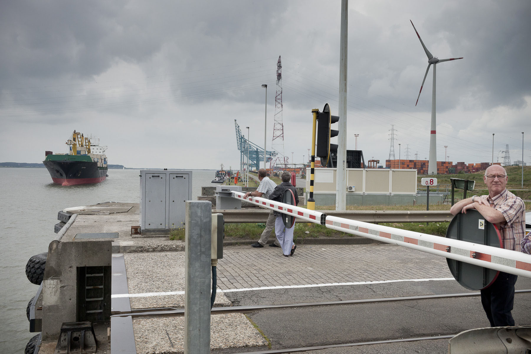 Entering through the Berendrecht lock, the largest port lock in the world in July 2010