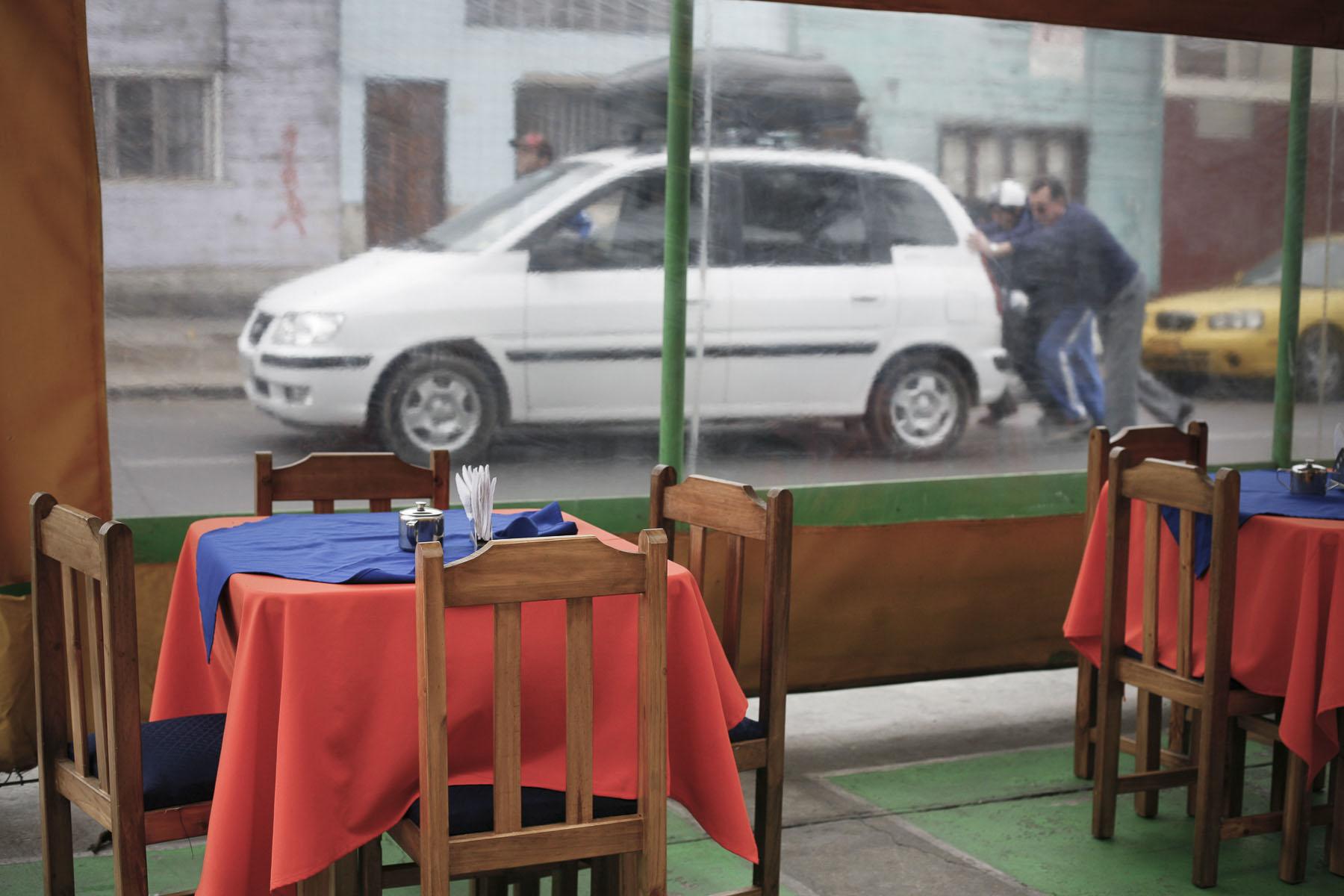 Restaurant close to the Prat Plaza in September 2007