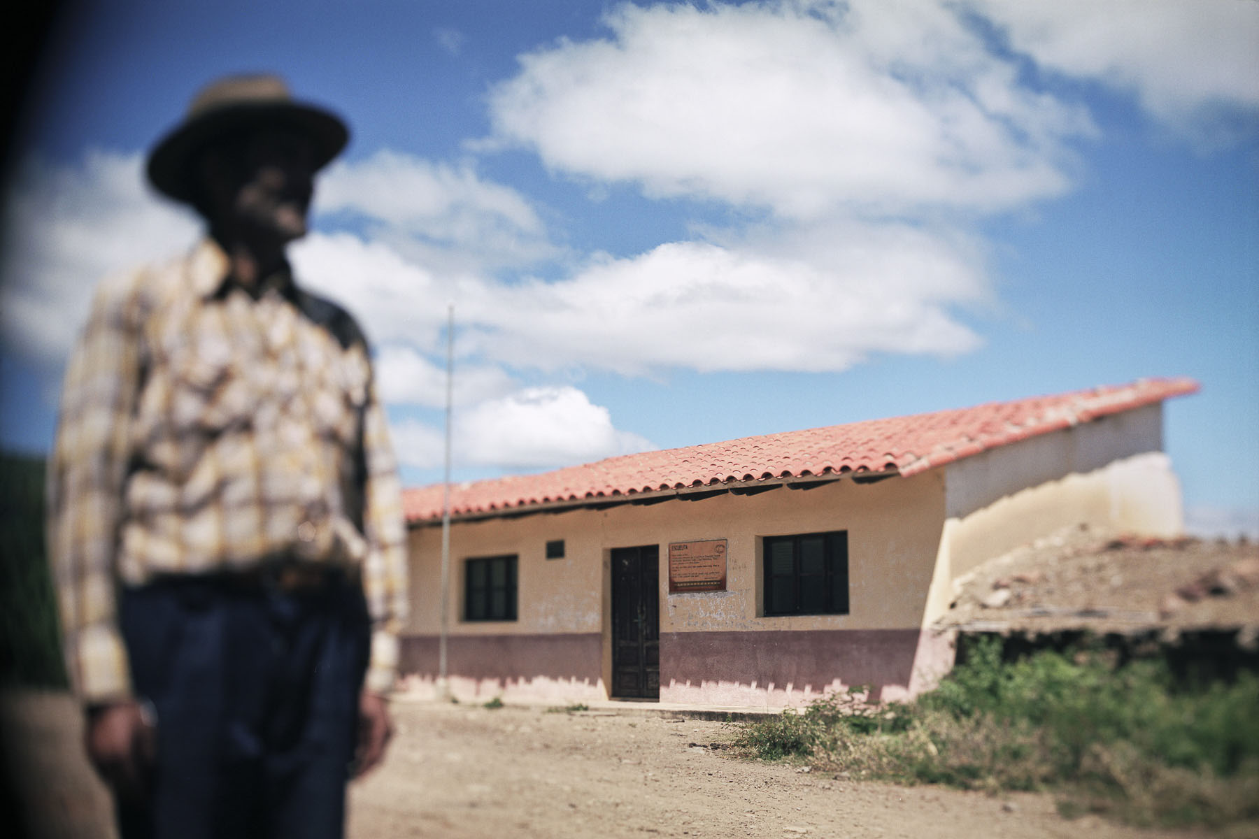 Bolivia, La Higuera. The school where Ernesto «Che» Guevara was executed by the Bolivian army on October 9th, 1967 in April 2005