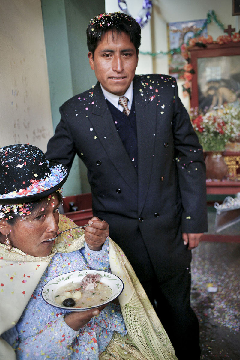 Annual festival of the patron saint of the market, Nuestro Senor de Huanca in September 2007