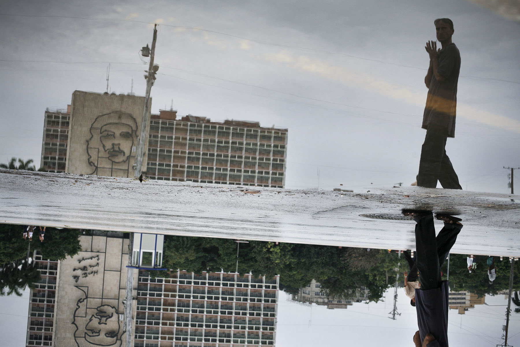 Revolution Place, fresco to the glory of Ernesto «Che» Guevara in September 2007