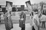 Augusto Pinochet supporters at SI rally during plebiscite Yes/No vote campaign in September 1988