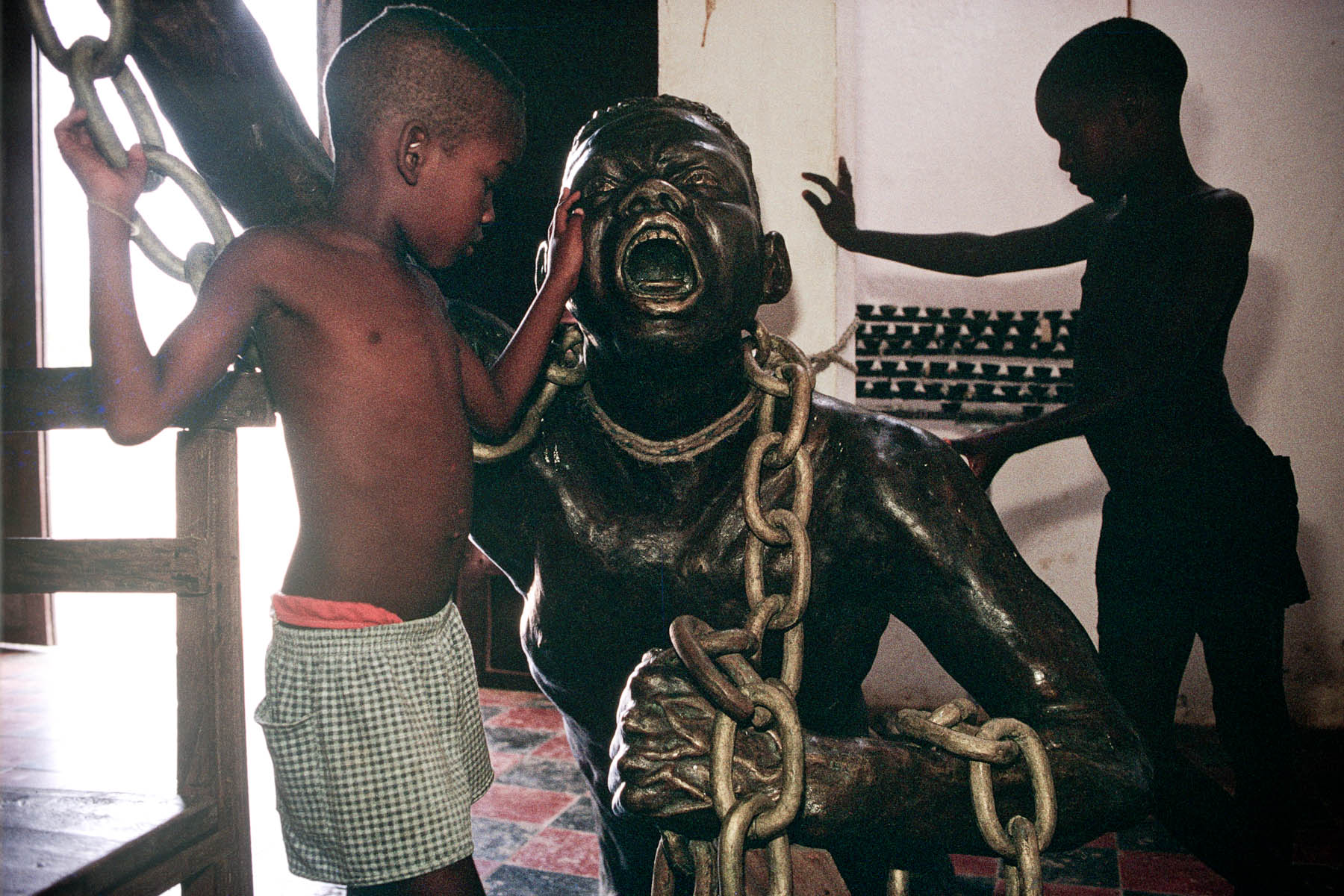 Statue of the Unknown Fugitive Slave, paying tribute to the slaves in July 1998