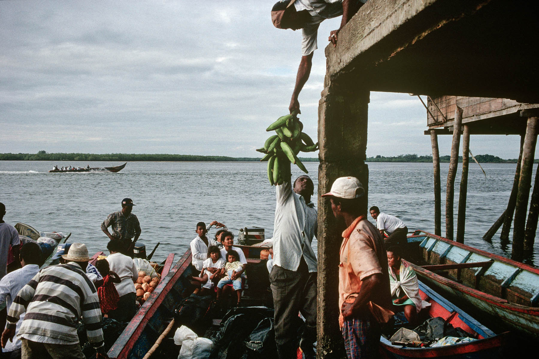 Tumaco harbour in July 1998