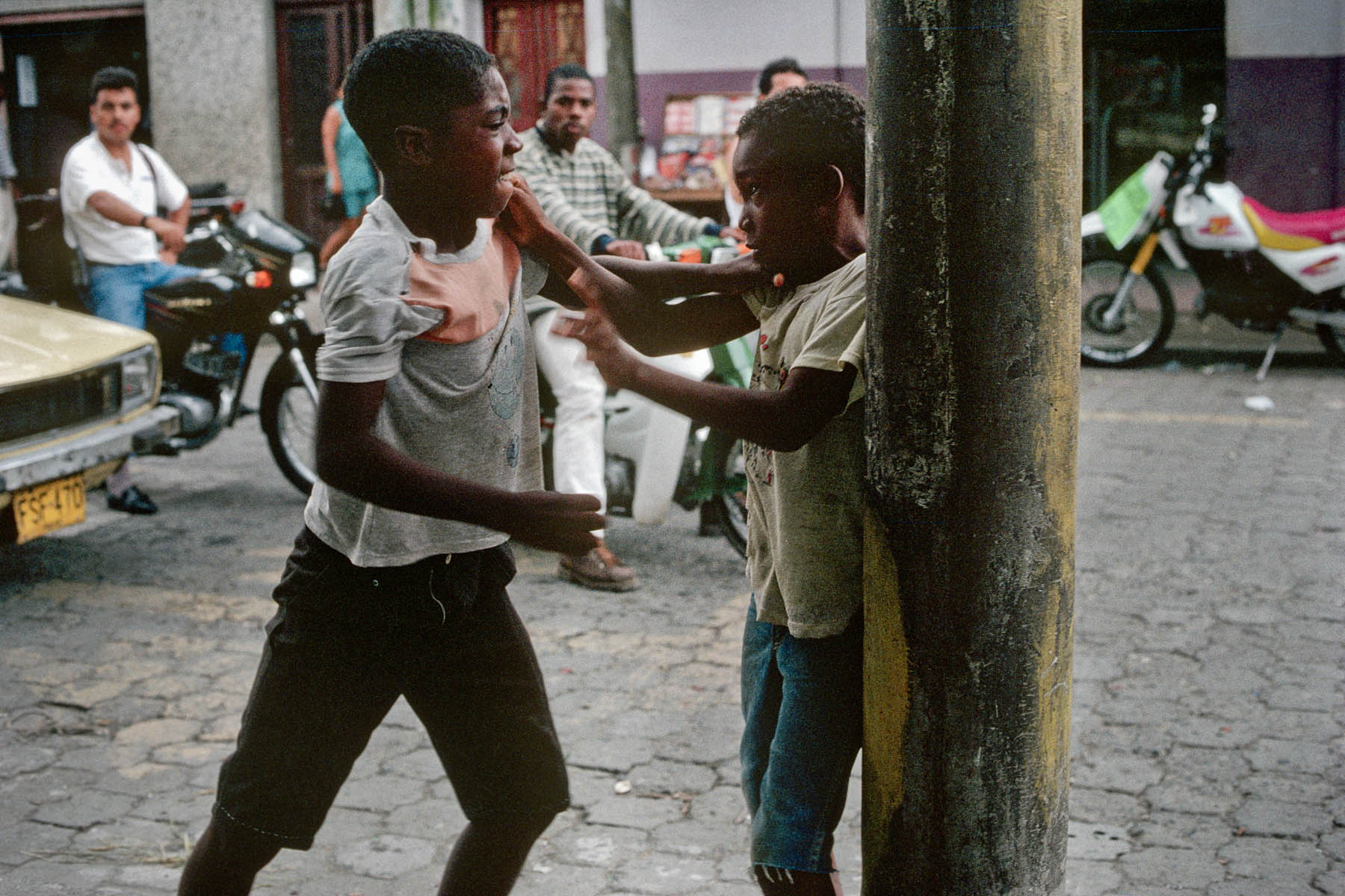 Street in Tumaco in July 1998