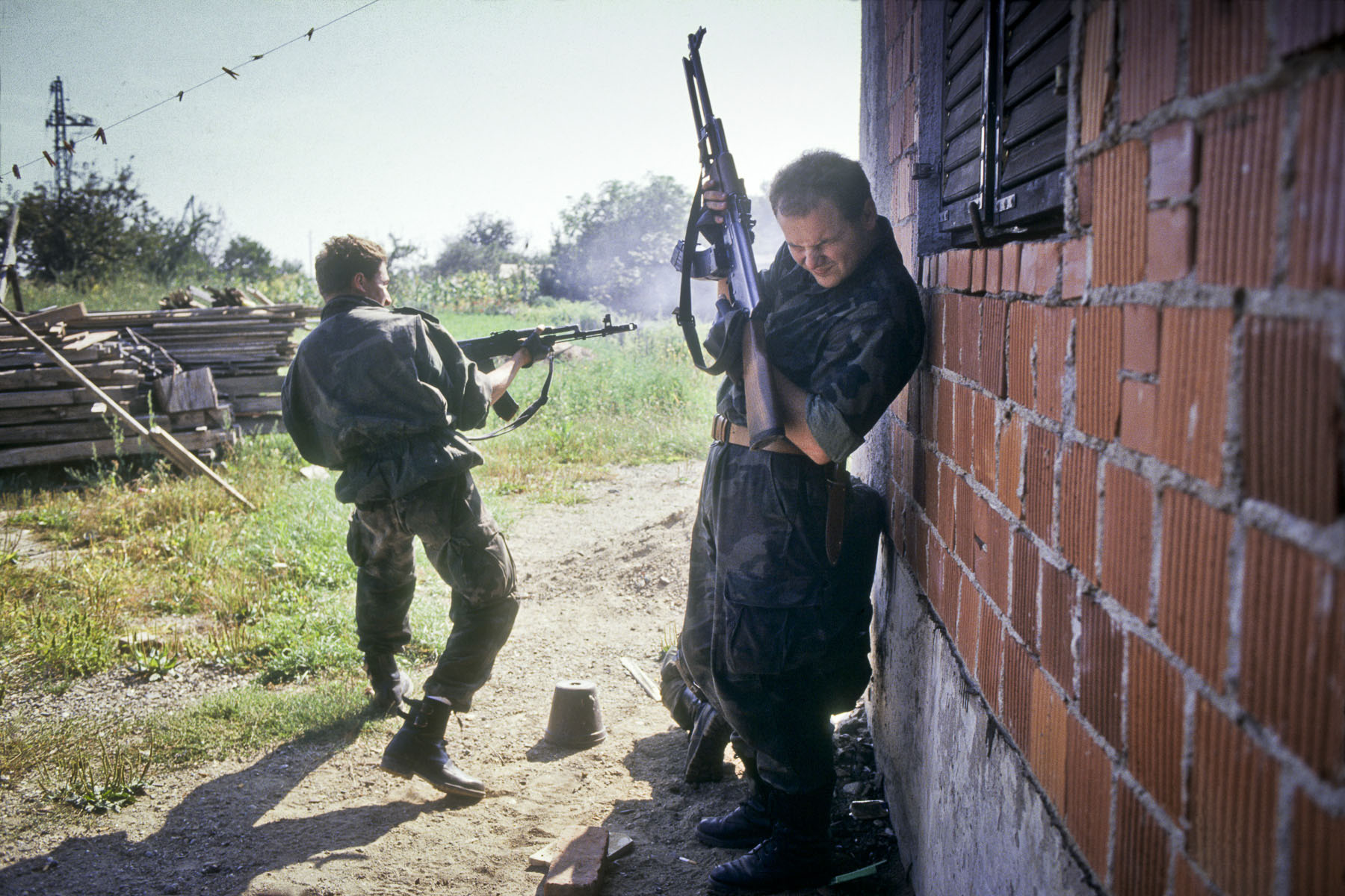Fights on the frontline during the Zagreb-Belgrade highway battle in September 1991