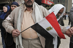 Demonstrators protest against President Mubarak's regime on Tahrir Square on Saturday February 5 2011