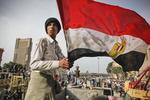 Demonstrators protest against President Mubarak's regime on Tahrir Square on Thursday February 3 2011