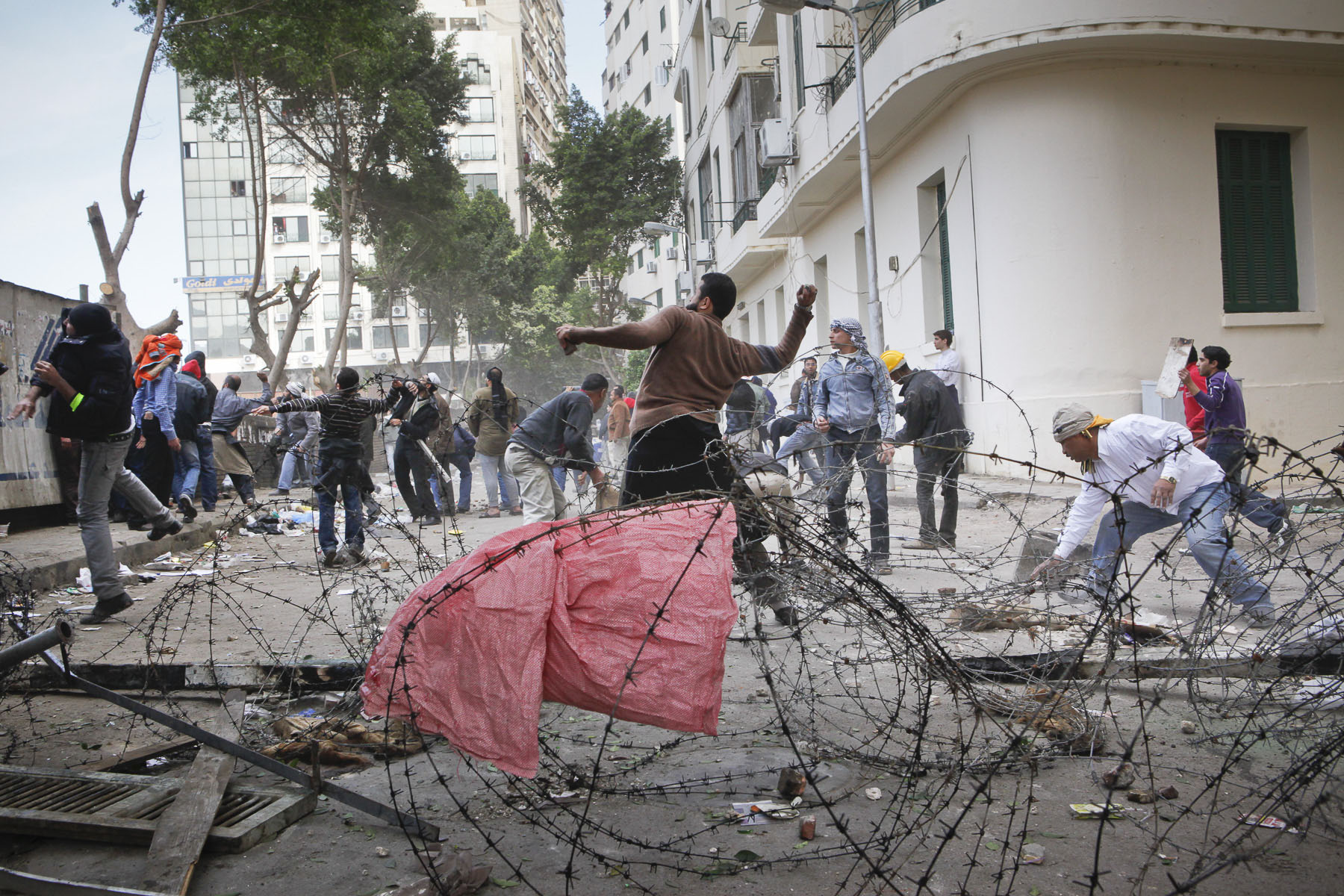 Clash between anti-government demonstrators and President Mubarak's supporters on Tahrir Square on Thursday February 3 2011
