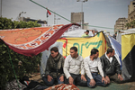 Anti-President Mubarak's demonstrators pray on Tahrir Square on Saturday February 5 2011