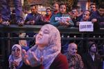 Anti-President Mubarak's demonstrators pray on Tahrir Square on Sunday February 6 2011