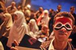 Anti-President Mubarak's demonstrators on Tahrir Square on Sunday February 6 2011