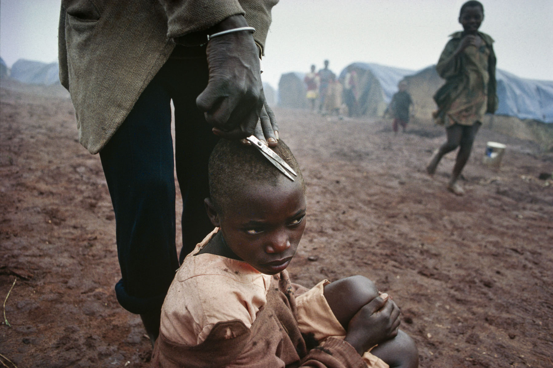 Burundese Hutu refugee camp in Kanage in February 1994