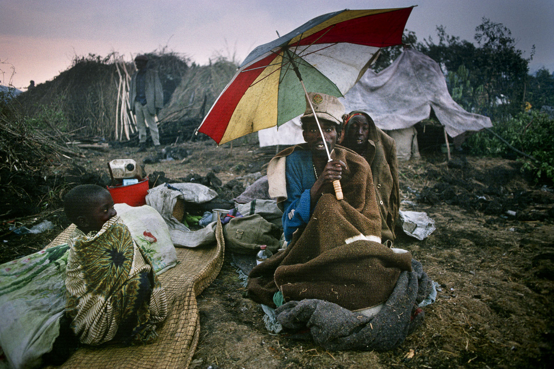 Rwandan Hutu refugees in the camp of Mugunga in August 1994