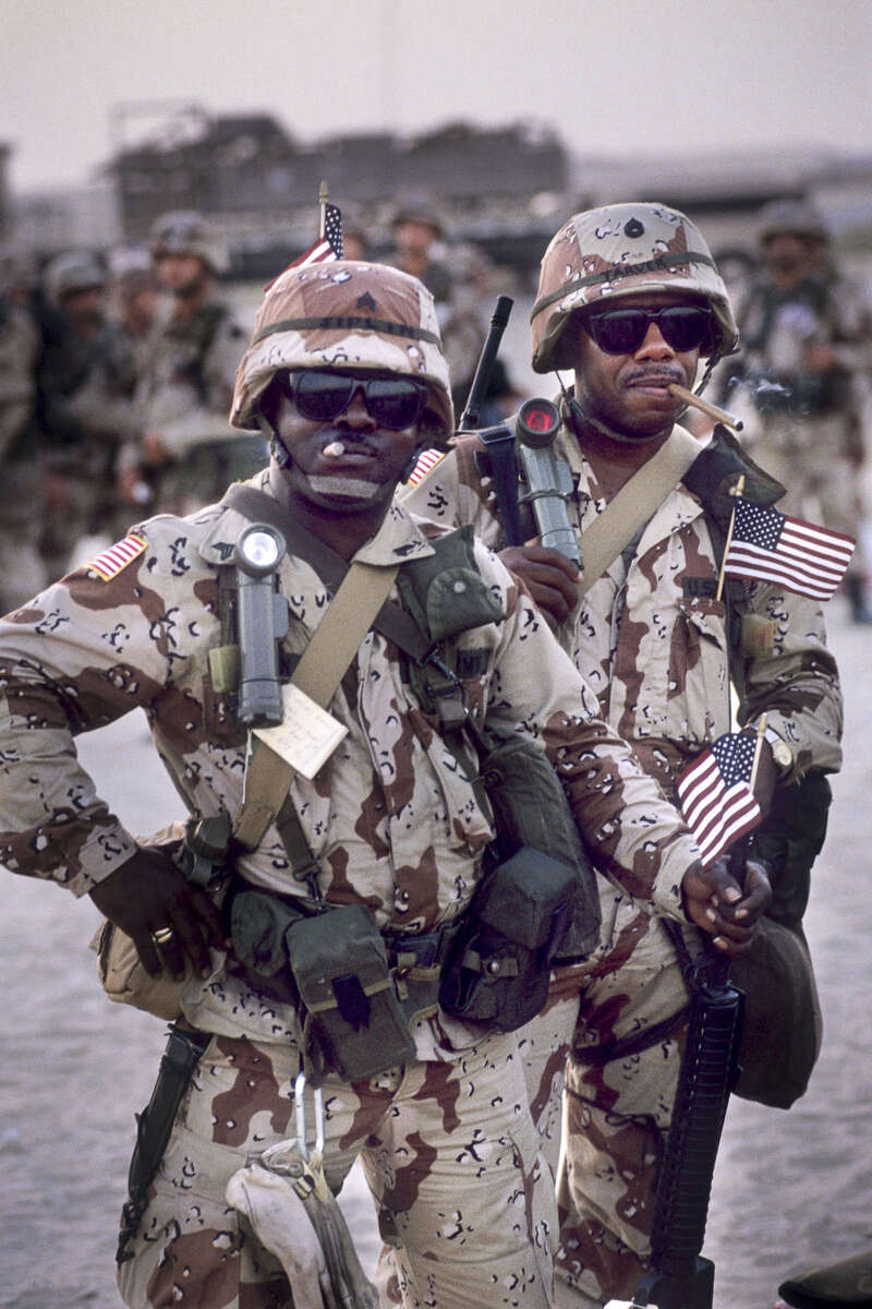 Arrival of US troops on Dhahran Air Force Base in August 1990
