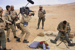 A French TV crew films a French Foreign Legion soldier in January 1991